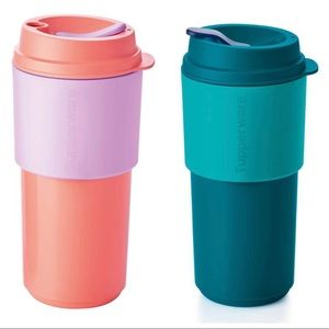 NEW Tupperware 2pc reusable cup set
